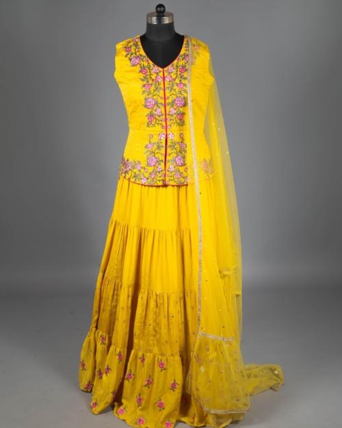 Lehenga - Lemon Yellow 1746