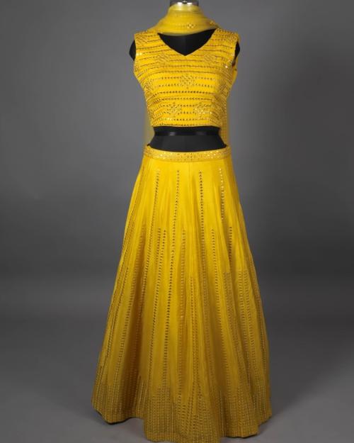 Lehenga - Musted Yellow1502