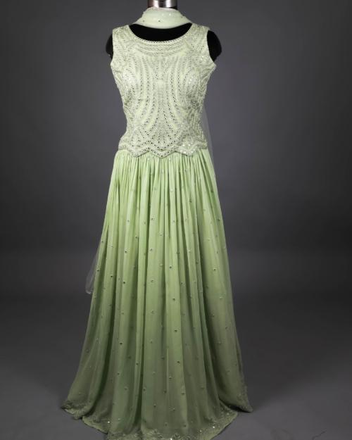 Lehenga - Pista Green 1750