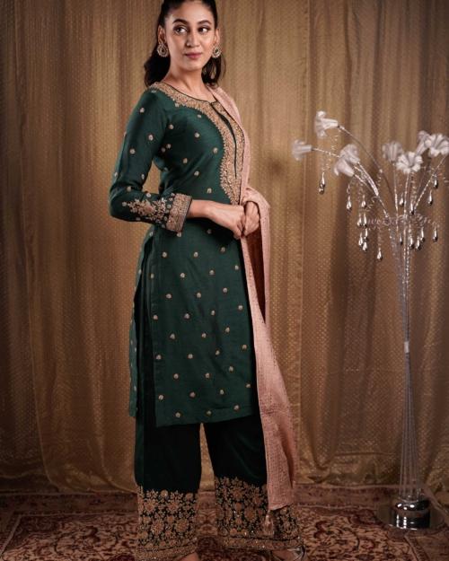 Salwar Kameez - Dark Green S266