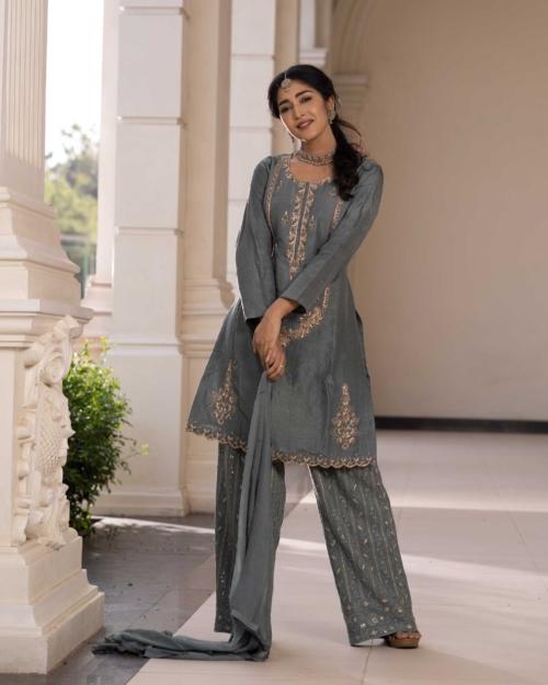 Salwar Kameez - Grey 5141