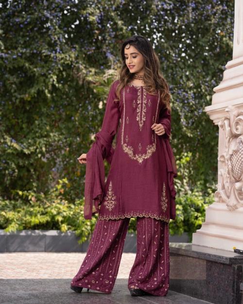Salwar Kameez - Maroon 5141