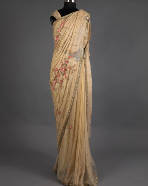 Saree – Cream 8237