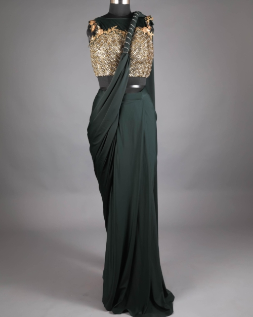 Saree - Forest Green OOTA