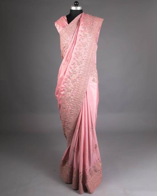 Saree Hot Pink - 3798