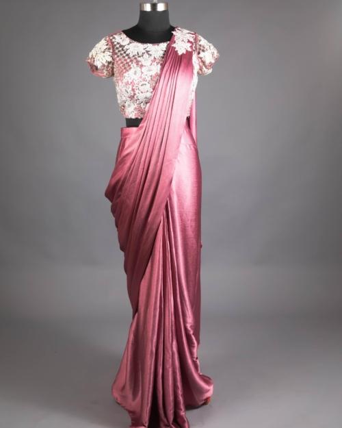 Saree - Mauve Pink UPER