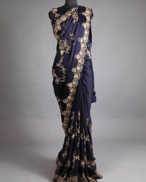 Saree - Midnight Blue 8608