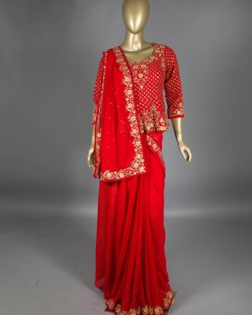 Saree - Ruby Pink 4567